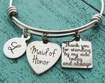 Maid Of Honor Gift Necklace Maid Of Honor Proposal Gift Will