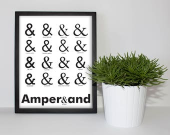 Office/ Cubible Work Ampersand Font Poster 8x10 Printable