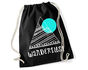 Gym Bag WANDERLUST Screen Print