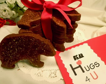 Cocoa Black Bear Sugar Cookies, dressed for the Man you love, Bear Hug Cookies for Dad, Virginia Black Bear cookies for Father's Day