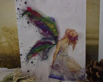 Fabric Faerie A5 Art Card