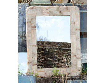 Livia - Wall Mirror (Recycled Pine Wood Frame, H:102cm)