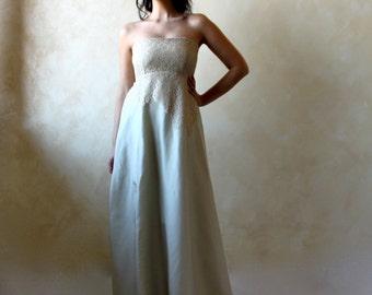 Alternative Wedding dress, Green wedding dress, Empire wedding dress, fairy wedding dress, woodland wedding dress, pagan wedding dress