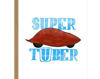 Super Tuber... Thanks For The Pick Me Up - Thank You Card