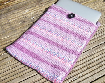 """Crocheted Laptop Sleeve for 13"""" Macbook Pro"""