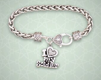 Clasp Bracelet - I Love My Soldier