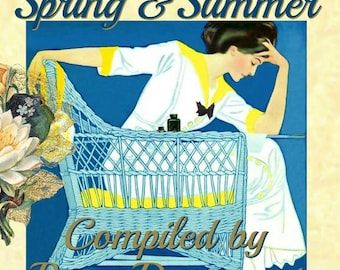 PDF of Ragtime Women Spring and Summer Grayscale Adult Coloring Book 30 Pages by Renee Davenport
