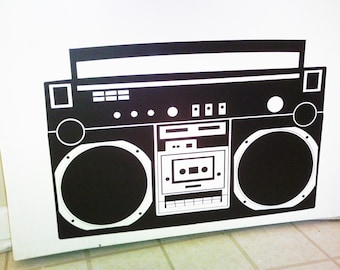 Boombox Radio wall decal