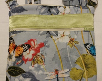 Dragonfly and Butterfly on Blue - Item: 1148-103