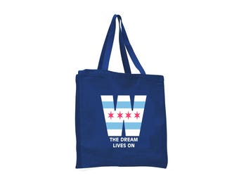 Tote Bag - Chicago Cubs - The Dream Lives On - Canvas Tote Bag