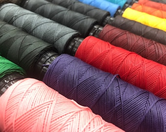 SLAM 0.6mm Waxed Polyester Thread for Hand Sewing Made in Italy