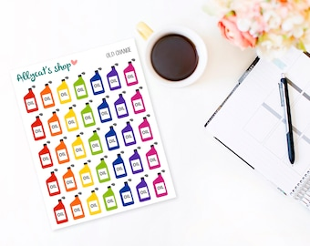 Oil Change Stickers - Planner Stickers