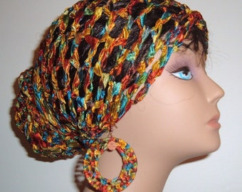ThE MAkEEDA HEaDWRAP and Earring Set-LiMiTeD Edition in Copper Rainbow Last Set Left
