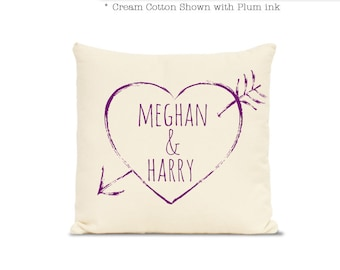 2nd anniversary cotton - 2nd wedding anniversary cotton gift - Personalized second anniversary gift - cotton pillow