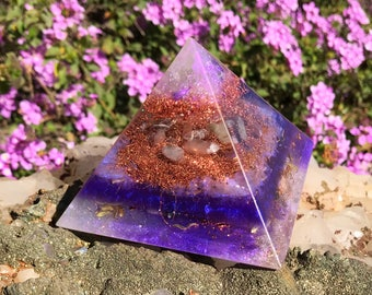 Violet Flame Orgone Crown Chakra Orgone Pyramid