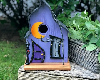 Fairytale Fantasy Birdhouse made from reclaimed recycled wood and materials