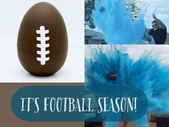 "10"" FOOTBALL Gender Reveal Football with 8x Powder!!!! Ships Same Day!"