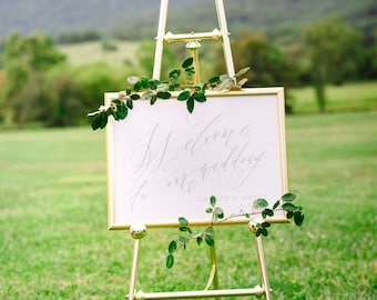 Flourished Calligraphy Wedding Welcome Sign - Printable DIGITAL Design File