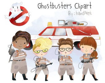 Ghostbusters 2 character clipart PNG file-300 dpi.