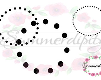 Dotted Circles Clipart