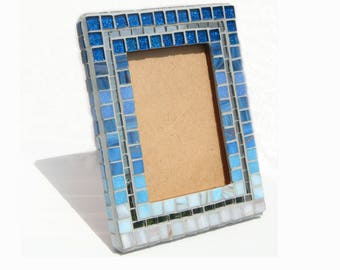 Blue Mosaic Art Picture Frame