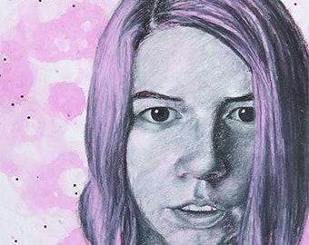 Blank, Pink, Bubbles - Fine art giclée print 5x7