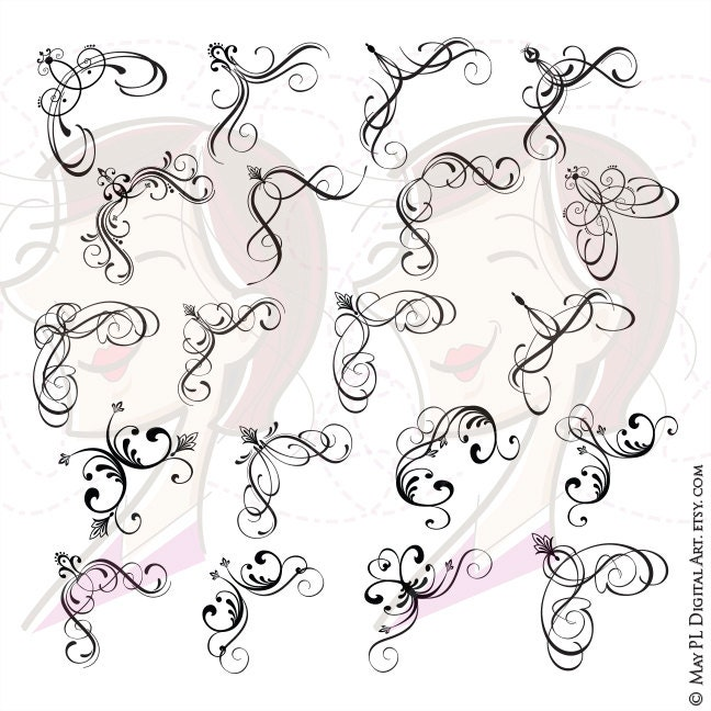 Calligraphy Corner Border Designs Pixshark