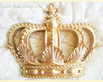 Perfect More Colors. Glamorous Gold Fleur De Lis Wall Decor Or Bed Crown ...