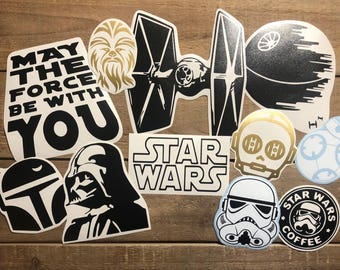 Star Wars Bundle Decals - Car Decal - Star Wars Decal - Death Star - Darth Vader - Jedi