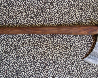 Damascus steel lightweight throwing axe with heavy duty top grain cowhide belt cover