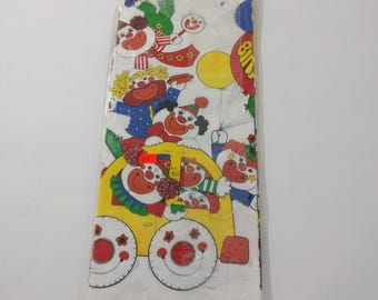 Hallmark Clown Parade Paper Tablecloth , Party Table Decoration, Birthday Party Decor, Clown Theme, Circus, Party Supply, Vintage Paper