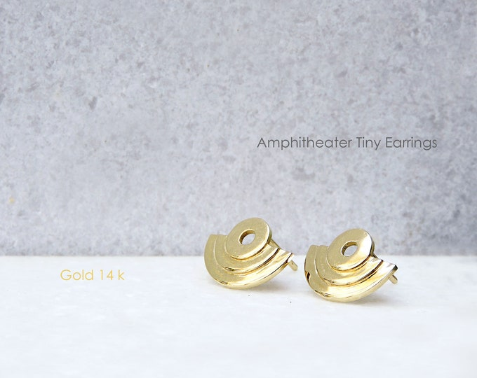 Xsmall Amphitheater Earrings Gold 14k