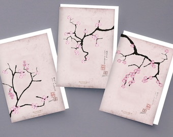 1) set of 3 cherry blossom greeting cards by Tony Fernandes