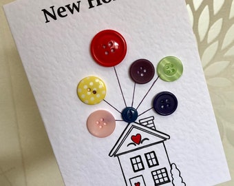 Up themed new home card with buttons
