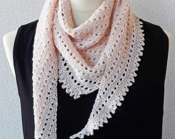 Hand knitted scarf Be Simple ' Sweet Avalanche '