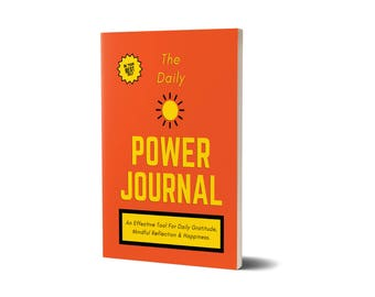 The Daily Power Journal, Orange Cover, Personal Development, 47A1548191140