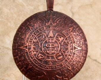 Aztec Pendant, Bronze, Greek Casting, 45 MM, M276