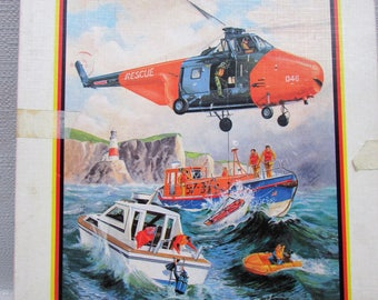 Victory Air Sea Rescue 100 Piece Wooden Jigsaw Puzzle - Vintage 1983