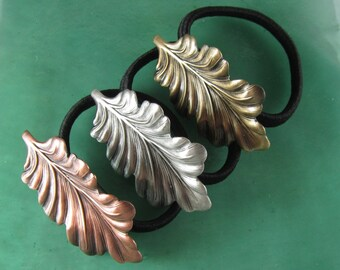 Leaf Ponytail Holder- Hair Accessories-Ties and Elastics- Leaves-