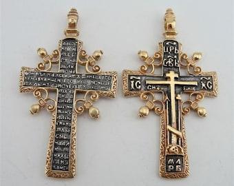 Jewela Antique Gold Silver Huge Crucifix cross  Pendant  gift, 24k plated , christmas (c p400