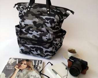 Camouflage Backpack Diaper Bag Water resistant Backpack,backpacks ,Laptop bag, diaper bag, School bag,Gift for her, Baby Shower,CYBER MONDAY