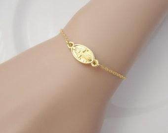Mary Bracelet, Our Lady Bracelet, Our Lady of Guadalupe, Virgin Mary Bracelet, UK Seller, Bridesmaid Gifts, Girl Gift, Christian Catholic
