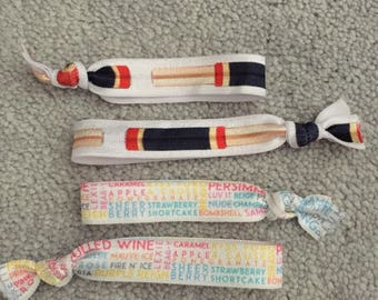 SALE Lipsense tubes and printed lipsense colours hair elastic ties and headbands