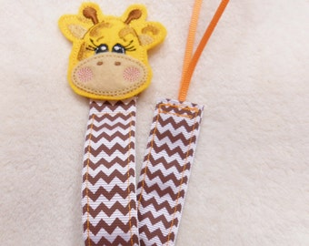 Giraffe Feltie Pacifier Clip