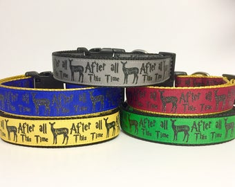 Harry Potter - Patronus - Always - Hogwarts - Wizard - Wizardry - After All This Time - Dog Collar - Gift - Holiday - Pet Gift -