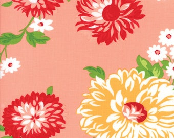 The Good Life by Bonnie and Camille - Moda Fabrics - Floral Scrumptious in Coral