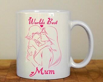 World best mum Mug, mothers day gift, birthday gift for mum, gift for her