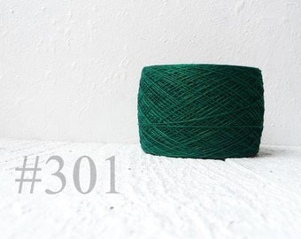 Christmas green linen yarn # 301