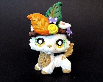 Littlest Pet Shop native forest Collie dog LPS figure OOAK custom paint sculpt