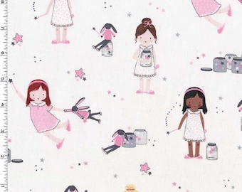 Sprinkle, Sprinkle, Little Stars Sparkle from Michael Miller's Twinkle Fairies Collection